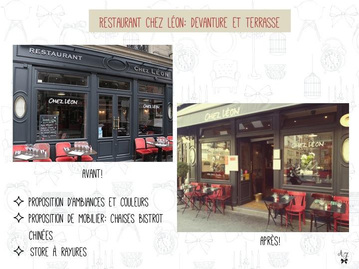restaurant Chez Léon Paris 17ème: décoration terrasse